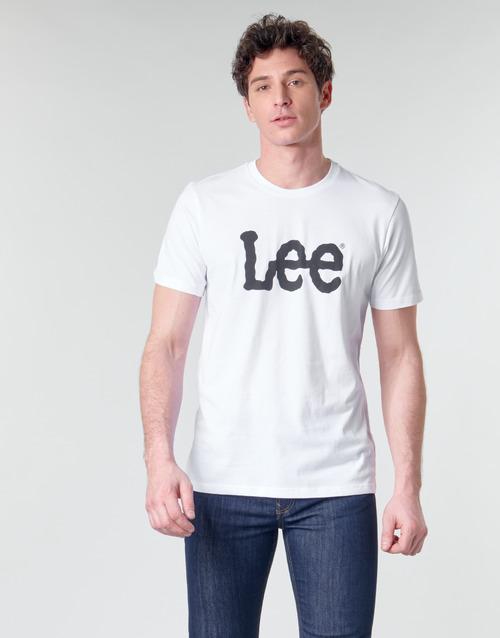 Lee Logo Tee Shirt Valkoinen - Ilmainen Toimitus- Vaatteet Lyhythihainen T-paita Miehet 20