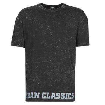 vaatteet Miehet Lyhythihainen t-paita Urban Classics TOBI Black