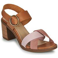 kengät Naiset Sandaalit ja avokkaat Casual Attitude MEL Camel / Pink