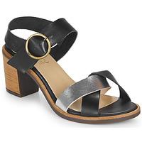 kengät Naiset Sandaalit ja avokkaat Casual Attitude MILLA Black / Hopea