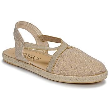 kengät Naiset Sandaalit ja avokkaat Casual Attitude MISSA Beige / Kulta