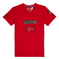 vaatteet Pojat Lyhythihainen t-paita Geographical Norway JIRI Red