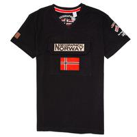 vaatteet Pojat Lyhythihainen t-paita Geographical Norway JIRI Musta