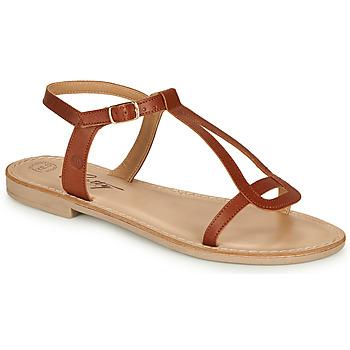 kengät Naiset Sandaalit ja avokkaat Betty London MISSINE Cognac