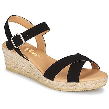 kengät Naiset Sandaalit ja avokkaat Betty London GIORGIA Black / Croute