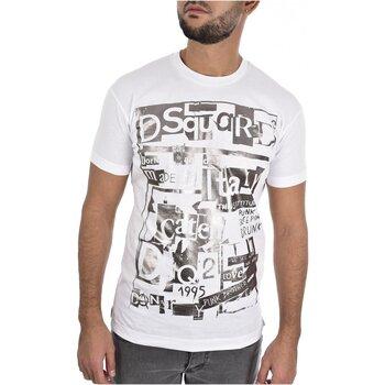 vaatteet Miehet Lyhythihainen t-paita Dsquared S74GD0531 White