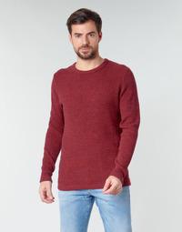 vaatteet Miehet Neulepusero Selected SLHVICTOR Punainen