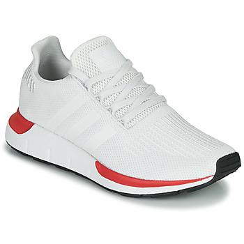 kengät Miehet Matalavartiset tennarit adidas Originals SWIFT RUN Valkoinen / Punainen