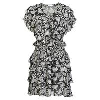 vaatteet Naiset Lyhyt mekko Replay  Musta / Valkoinen