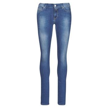 vaatteet Naiset Skinny-farkut Replay LUZ Blue / Fonce