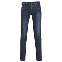 vaatteet Miehet Slim-farkut Replay ANBASS Blue / Fonce