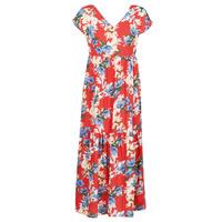 vaatteet Naiset Pitkä mekko Betty London MALIN Red / White / Blue