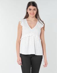 vaatteet Naiset Topit / Puserot Betty London MOUDINE White / Kulta