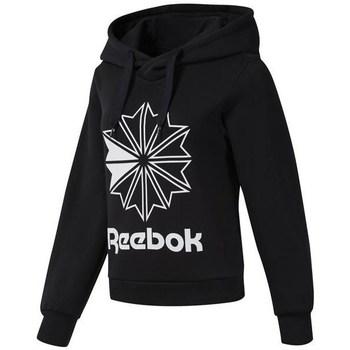 vaatteet Naiset Svetari Reebok Sport CL FL Big Logo Hood Mustat