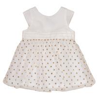 vaatteet Tytöt Lyhyt mekko Petit Bateau FAVORITE White / Kulta