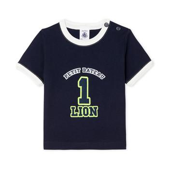 vaatteet Pojat Lyhythihainen t-paita Petit Bateau FUDGE Blue