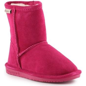 kengät Tytöt Talvisaappaat Bearpaw Emma Toddler Zipper 608TZ-671 Pom Berry pink