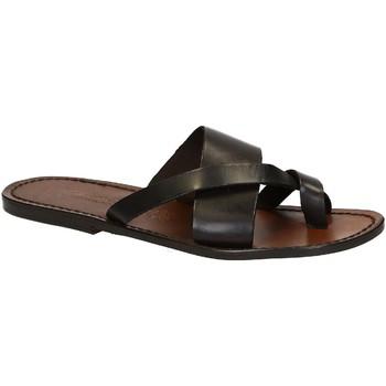 kengät Miehet Sandaalit ja avokkaat Gianluca - L'artigiano Del Cuoio 545 U MORO CUOIO Testa di Moro