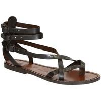 kengät Naiset Sandaalit ja avokkaat Gianluca - L'artigiano Del Cuoio 564 D MORO CUOIO Testa di Moro