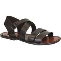 kengät Miehet Sandaalit ja avokkaat Gianluca - L'artigiano Del Cuoio 508 U MORO CUOIO Testa di Moro