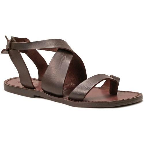 kengät Naiset Sandaalit ja avokkaat Gianluca - L'artigiano Del Cuoio 571 D MORO CUOIO Testa di Moro