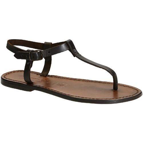 kengät Naiset Sandaalit ja avokkaat Gianluca - L'artigiano Del Cuoio 532 D MORO CUOIO Testa di Moro