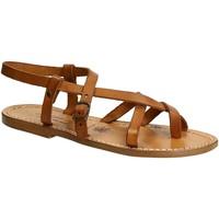 kengät Naiset Sandaalit ja avokkaat Gianluca - L'artigiano Del Cuoio 530 D CUOIO CUOIO Cuoio