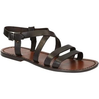 kengät Miehet Sandaalit ja avokkaat Gianluca - L'artigiano Del Cuoio 531 U MORO CUOIO Testa di Moro