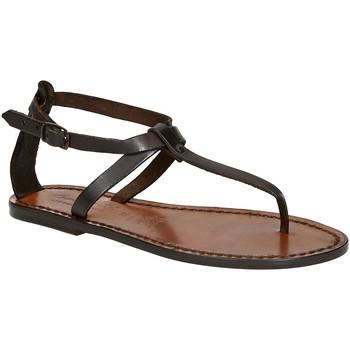 kengät Naiset Sandaalit ja avokkaat Gianluca - L'artigiano Del Cuoio 582 D MORO CUOIO Testa di Moro