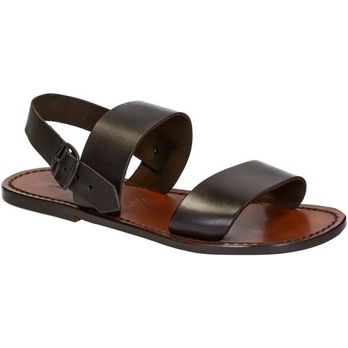 kengät Miehet Sandaalit ja avokkaat Gianluca - L'artigiano Del Cuoio 500 U MORO CUOIO Testa di Moro