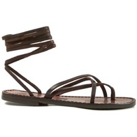 kengät Naiset Sandaalit ja avokkaat Gianluca - L'artigiano Del Cuoio 514 D MORO CUOIO Testa di Moro