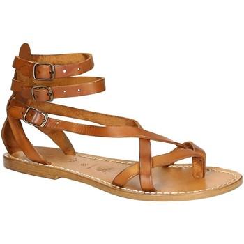 kengät Naiset Sandaalit ja avokkaat Gianluca - L'artigiano Del Cuoio 564 D CUOIO CUOIO Cuoio