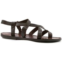 kengät Miehet Sandaalit ja avokkaat Gianluca - L'artigiano Del Cuoio 530 U MORO CUOIO Testa di Moro