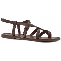 kengät Naiset Sandaalit ja avokkaat Gianluca - L'artigiano Del Cuoio 530 D MORO CUOIO Testa di Moro