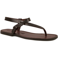 kengät Miehet Sandaalit ja avokkaat Gianluca - L'artigiano Del Cuoio 592 U MORO CUOIO Testa di Moro