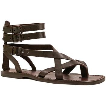 kengät Miehet Sandaalit ja avokkaat Gianluca - L'artigiano Del Cuoio 564 U MORO CUOIO Testa di Moro