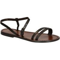 kengät Naiset Sandaalit ja avokkaat Gianluca - L'artigiano Del Cuoio 591 D MORO CUOIO Testa di Moro