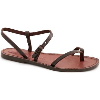kengät Naiset Sandaalit ja avokkaat Gianluca - L'artigiano Del Cuoio 590 D MORO CUOIO Testa di Moro