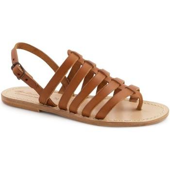 kengät Naiset Sandaalit ja avokkaat Gianluca - L'artigiano Del Cuoio 576 D CUOIO LGT-CUOIO Cuoio