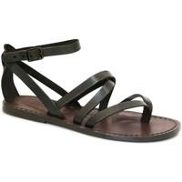 kengät Naiset Sandaalit ja avokkaat Gianluca - L'artigiano Del Cuoio 584 D MORO CUOIO Testa di Moro