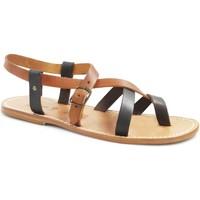 kengät Naiset Sandaalit ja avokkaat Gianluca - L'artigiano Del Cuoio 530 U MORO-CUOIO LGT-CUOIO Testa di Moro
