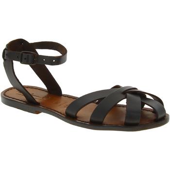 kengät Naiset Sandaalit ja avokkaat Gianluca - L'artigiano Del Cuoio 503 D MORO CUOIO Testa di Moro