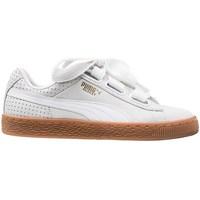 kengät Naiset Matalavartiset tennarit Puma Basket Heart Perf Gum Valkoiset
