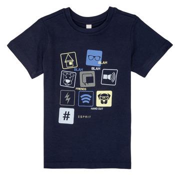 vaatteet Pojat Lyhythihainen t-paita Esprit ENZIEO Laivastonsininen