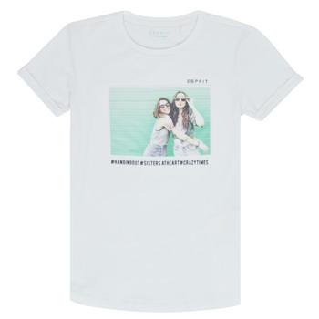 vaatteet Tytöt Lyhythihainen t-paita Esprit ELISH Valkoinen