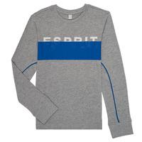 vaatteet Pojat T-paidat pitkillä hihoilla Esprit FABIOLA Grey