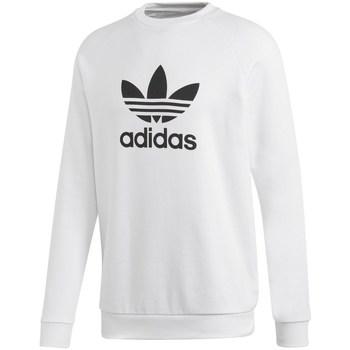 vaatteet Miehet Svetari adidas Originals Trefoil Crew Valkoiset
