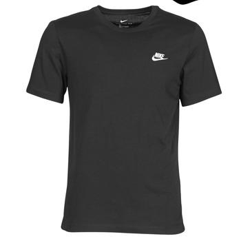 vaatteet Miehet Lyhythihainen t-paita Nike M NSW CLUB TEE Musta / Valkoinen
