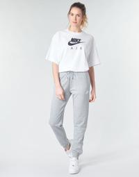 vaatteet Naiset Verryttelyhousut Nike W NSW ESSNTL PANT REG FLC Grey / White