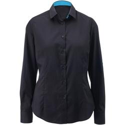 vaatteet Naiset Paitapusero / Kauluspaita Alexandra AX060 Black/ Peacock